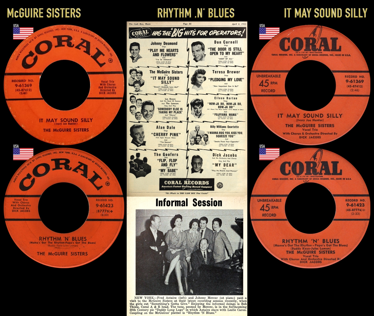 550521_McGuire Sisters_It May Sound Silly_Rhythn 'N' Blues