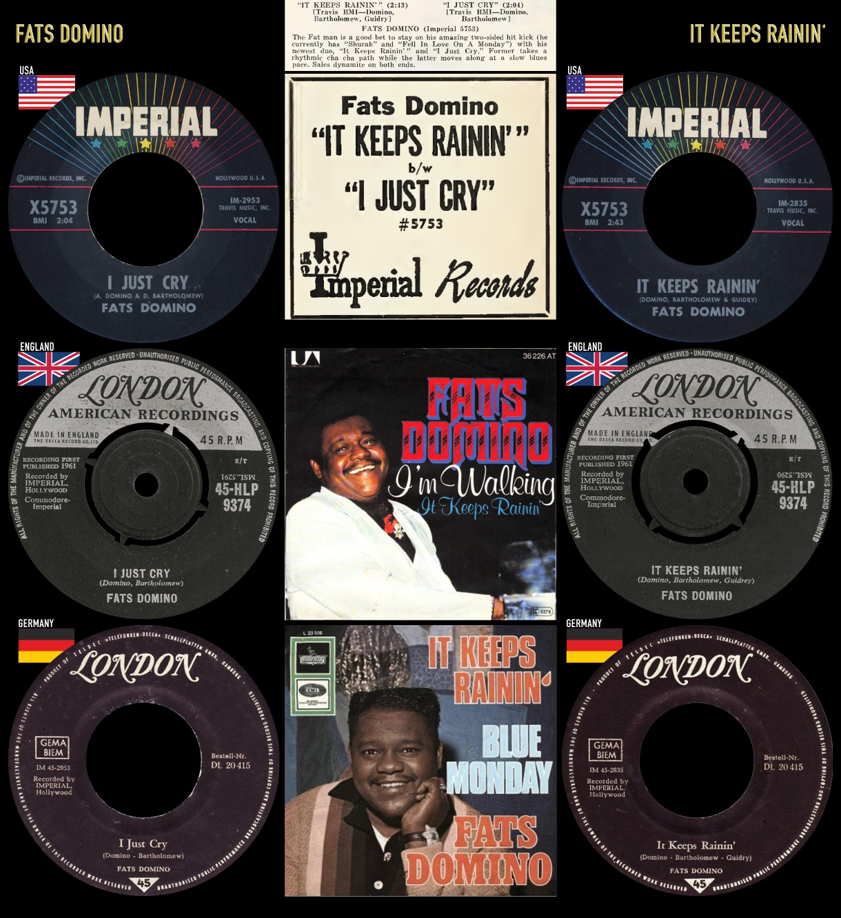 610513_Fats Domino_It Keeps Rainin'