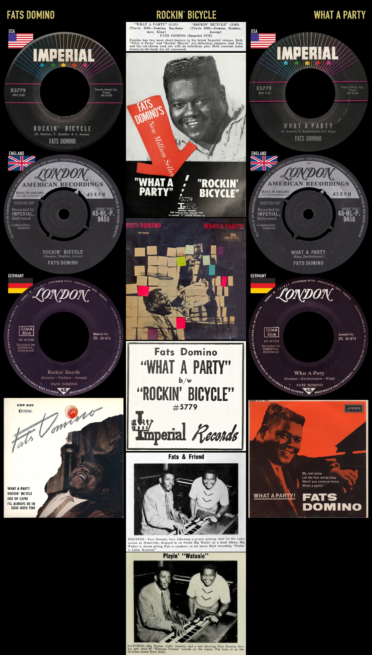 610930_Fats Domino_What A Party_Rockin' Bicycle